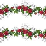 Wreath of red roses Stock Images
