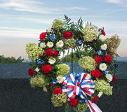 Wreath of remembrance. 9.11 Stock Photography