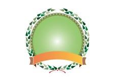 Wreath and ribbon 1 - vector Royalty Free Stock Image
