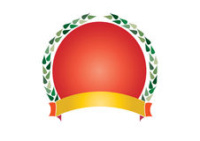 Wreath and ribbon Stock Photo