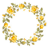 Wreath from rose Stock Photo