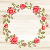 Wreath from rose Stock Photography