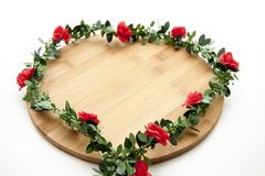 Wreath with roses Royalty Free Stock Photography