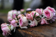 A wreath of roses. For the bride Royalty Free Stock Image