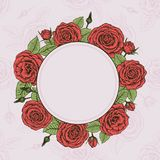 Wreath of roses Stock Image