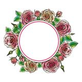 Wreath of roses Stock Images