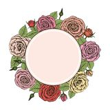 Wreath of roses Royalty Free Stock Images