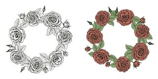 Wreath of roses Stock Photos