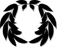 Wreath-Schattenbild Lizenzfreies Stockbild