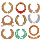Wreath set Stock Photo