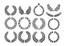 Wreath set Royalty Free Stock Image