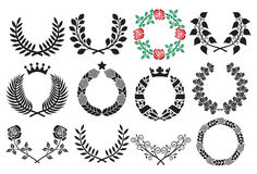 Wreath set Royalty Free Stock Images