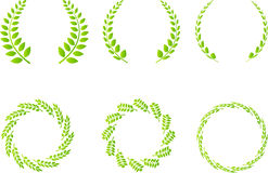 Wreath set. A vector drawing represents wreath set design Stock Photography