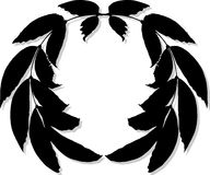 Wreath Silhouette. A silhouette wreath of leaves Royalty Free Stock Image