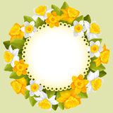 Wreath of spring flowers Stock Photography