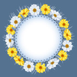 Wreath of spring flowers Stock Photos