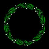 Wreath of stylized mistletoe Stock Photography