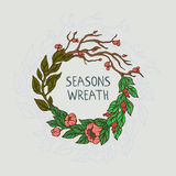 Wreath `Time of year` Stock Images