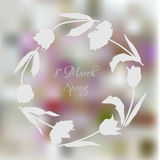 Wreath with tulips-01 Royalty Free Stock Photography