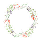 Wreath of twigs and berries Stock Photography