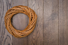 Wreath Twisted Wood Decoration Stock Images