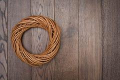 Wreath Twisted Wood Decoration Royalty Free Stock Image