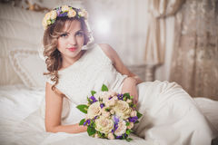Wreath Wedding Bride Stock Photos