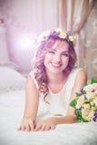 Wreath Wedding Bride royalty free stock photography