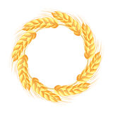 Wreath of wheat ears Royalty Free Stock Photos