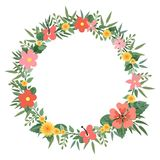 Wreath of wild flowers. Vector illustration Stock Images