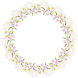 Wreath of wildflowers Stock Image