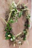 Wreath wildflowers Stock Photo