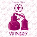 Wreath winery for wine. Vector background with wreath winery for wine Stock Photos
