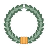 Wreath for the winner. Vector illustration of wreath for the winner isolated on a white background. Can be used for graphic design, textile design or web design Royalty Free Stock Images