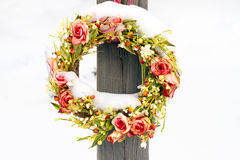 Wreath in winter Royalty Free Stock Images