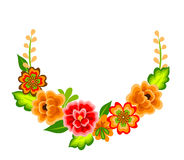 Wreath With Mexican Flowers Stock Photo