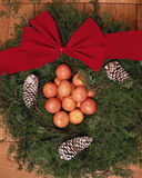 Wreath on Wooden Table Royalty Free Stock Photos