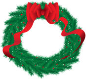 Wreath. XL computer illustration of a Christmas wreath Royalty Free Stock Image