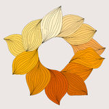 Wreath from yellow leaves. Template for wedding, mothers day, bi Stock Photography