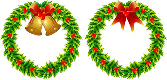 Wreaths. Two simple christmas wreaths decoration vectored Stock Photo