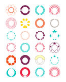 Wreaths and badge. elements decorate page and logo. vector illus Stock Images