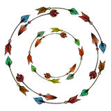 Wreaths of colorful hand drawn arrows. Stock Image