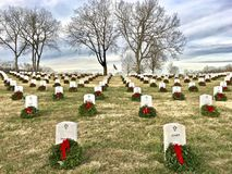 Wreaths of Honor royalty free stock image