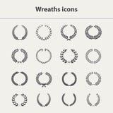 Wreaths icons set royalty free illustration