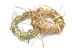 Wreaths made of straw Stock Photos