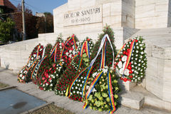 Wreaths at the Sanitary Heroes Monument. Romanian Military Medicine Day was commemorated on August 21, 2014 at the Sanitary Heroes Monument, where many wreaths Stock Photos