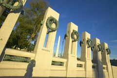 Wreaths at the U.S. World War II Memorial ,Washington D.C. Stock Image