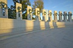 Wreaths at the U.S. World War II Memorial ,Washington D.C. Stock Image