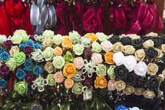 Wreaths of various colors Stock Photos