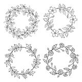 Wreaths vector Stock Images
